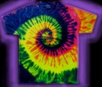 Neon Swirl A - a multi-colored fluorescent / neon T-shirt