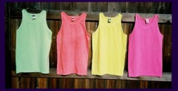 fluorescent / neon tank tops in assorted colors