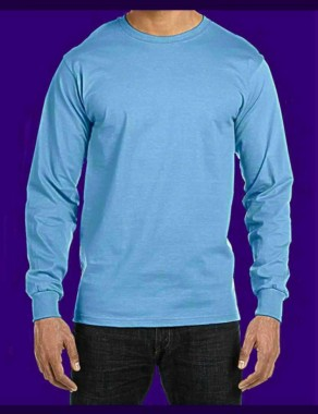 Electric Blue, long-sleeve version, fluorescent / neon T-shirt