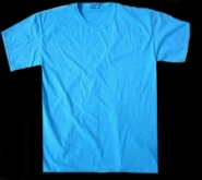 Electric Blue, fluorescent / neon T-shirt